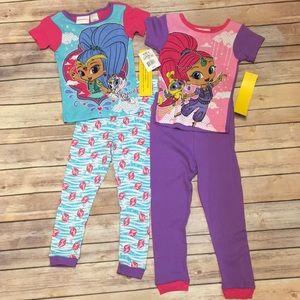 NWT Nickelodeon 4pc Pajama Set